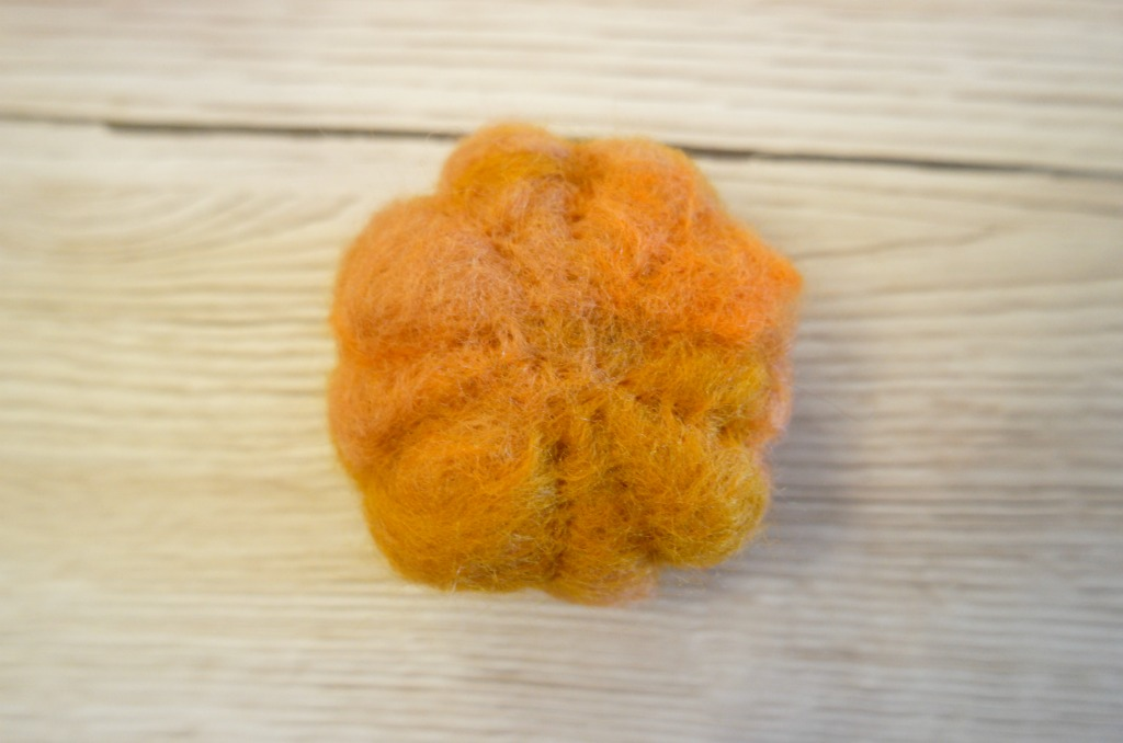 how to make a needle felted pumpkin