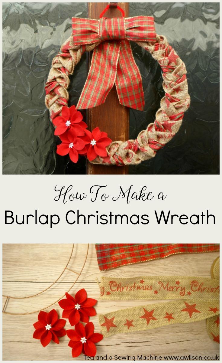 how to make a burlap christmas wreath - Burlap Christmas Wreaths