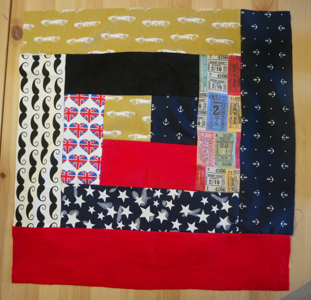 how to sew a log cabin quilt block