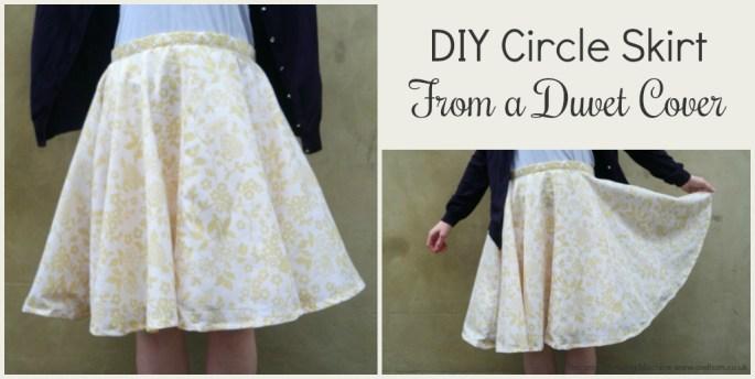 DIY Circle Skirt From a Duvet Cover
