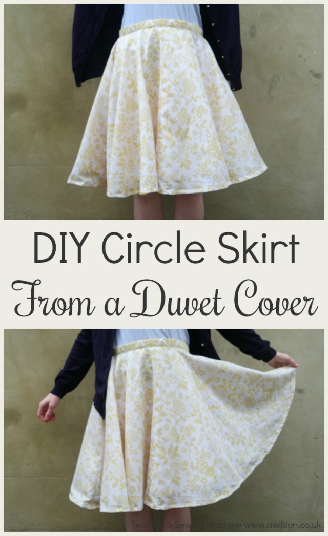 diy circle skirt from a duvet cover
