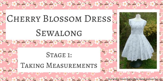 Cherry Blossom Dress Sewalong Stage 1: Taking Measurements