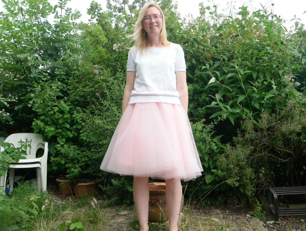 easy tulle circle skirt