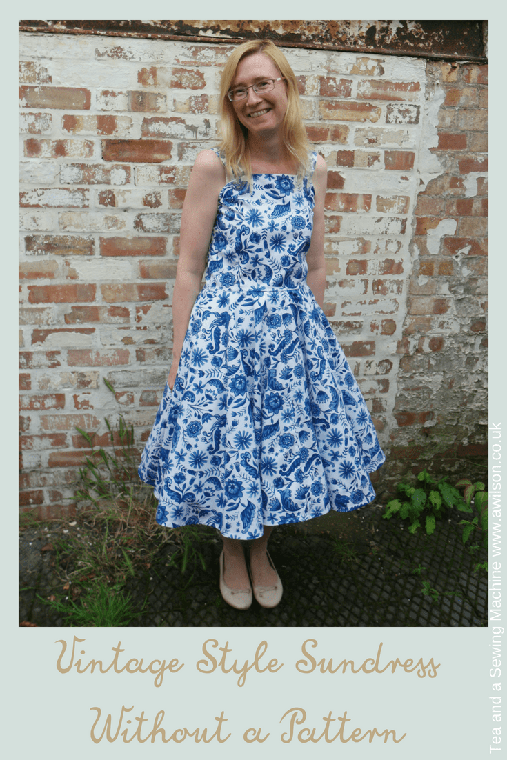 vintage style sundress without a pattern