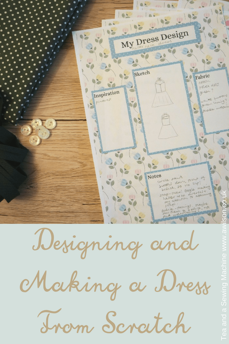how to design and make a dress from scratch