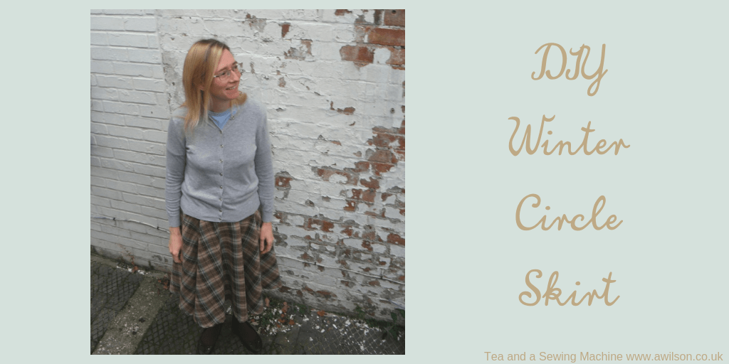 winter circle skirt tutorial