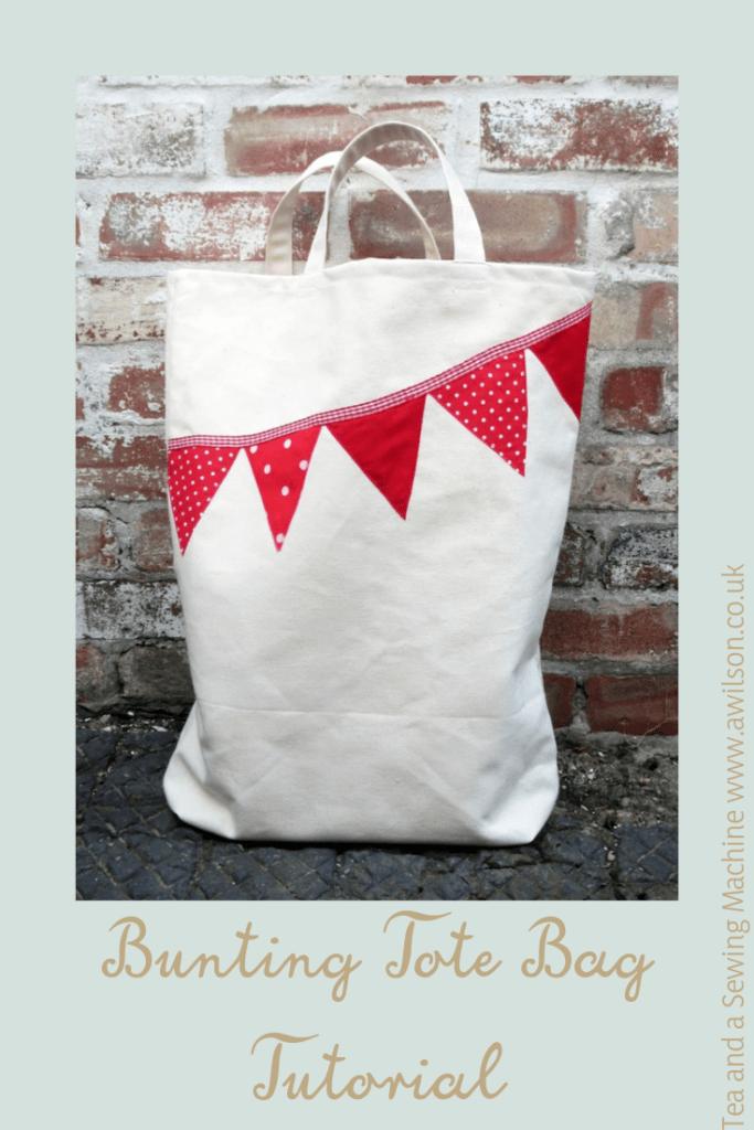 bunting tote bag tutorial