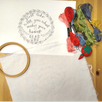 how to transfer embroidery patterns to fabric