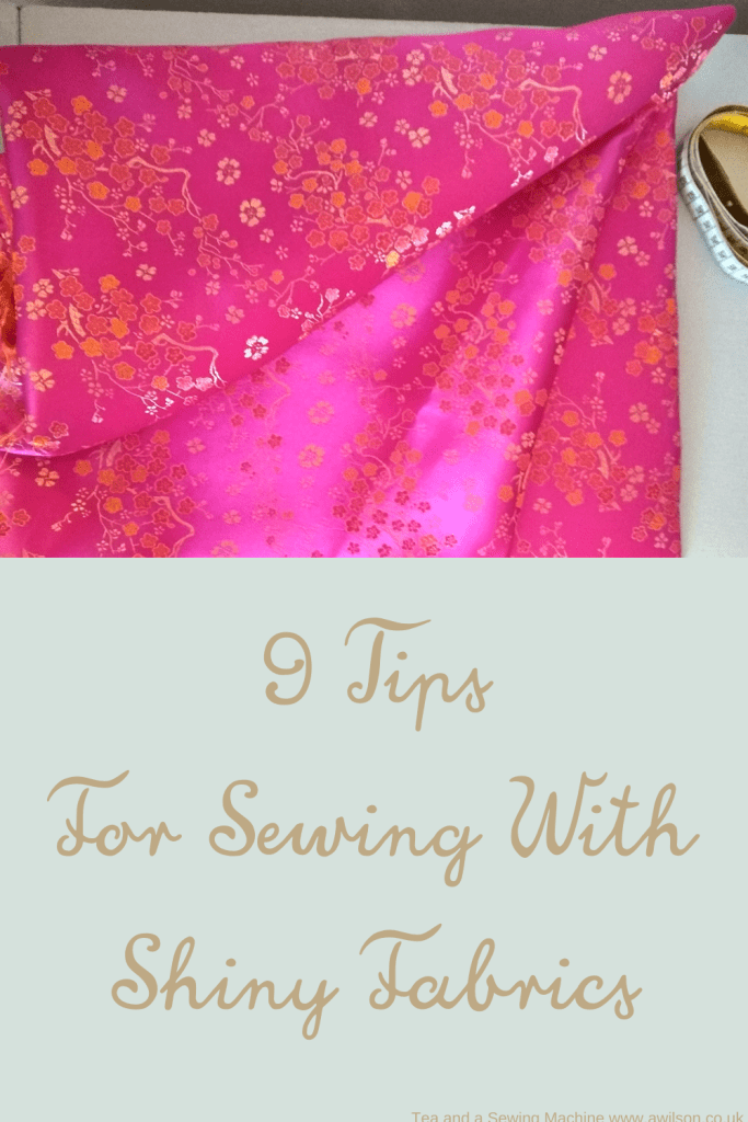 9 tips for sewing with shiny fabrics