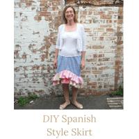 diy spanish style skirt