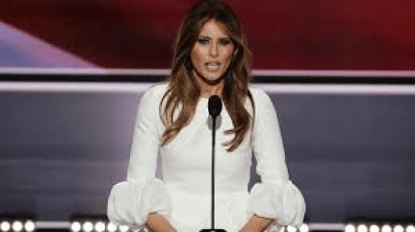 Melania at Podium Picture