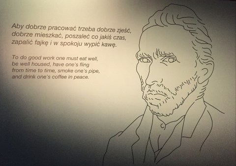Vincent Van Gogh. Van Gogh Alive exhibition in Wroclaw, Poland