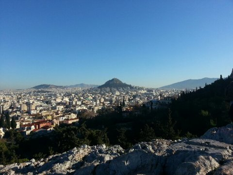 View of Athens from the Acropolis. Greece