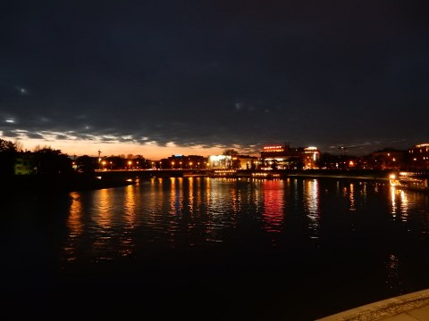 Vistula River in Krakow, Poland