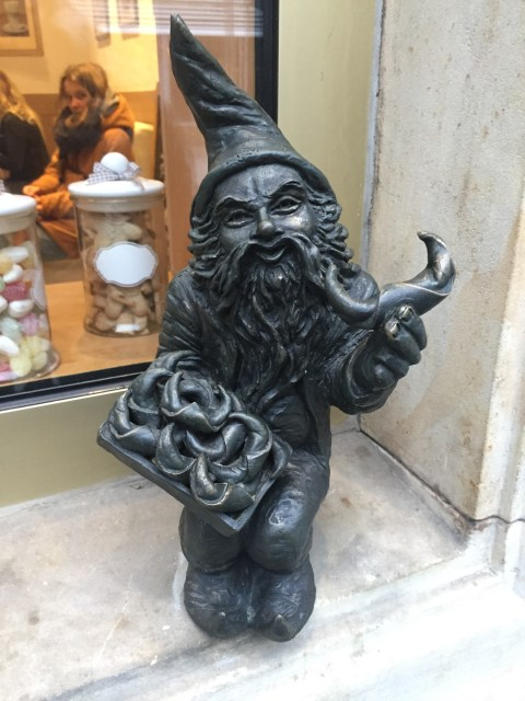The Baker dwarf/gnome in Wroclaw, Poland