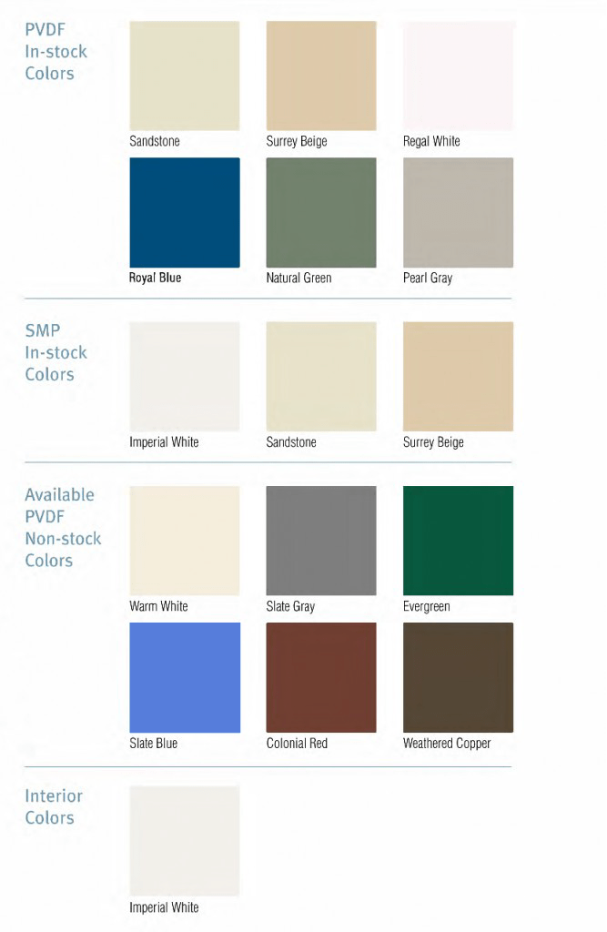 colors finishes insulated panels
