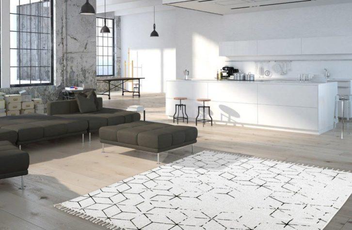 Wntrze w stylu industrialnym  3 propozycje dywanw