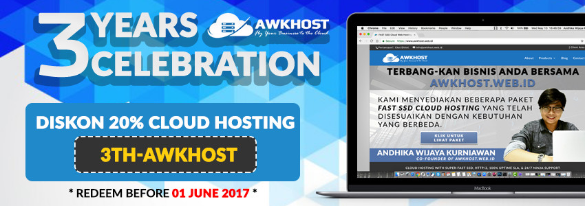 #Promo: 3 Years Celebration AWKHOST