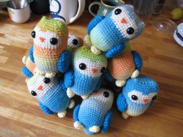 1 dozen amigurumi owls - awkwardsouldesigns (7)