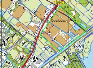 Kaart van het gebied