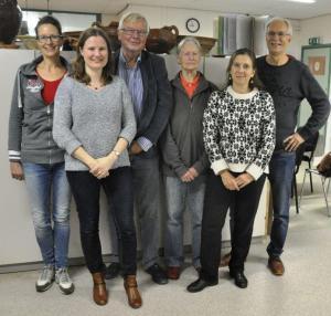 V.l.n.r.: Vian Gast, Joanneke van den Engel – Hees, Kees van der Brugge, Titia Kiers, Alexandra Oostdijk en Ronald Zalmé.