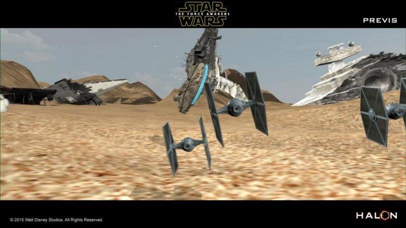 pre-vis on star wars the force awakens