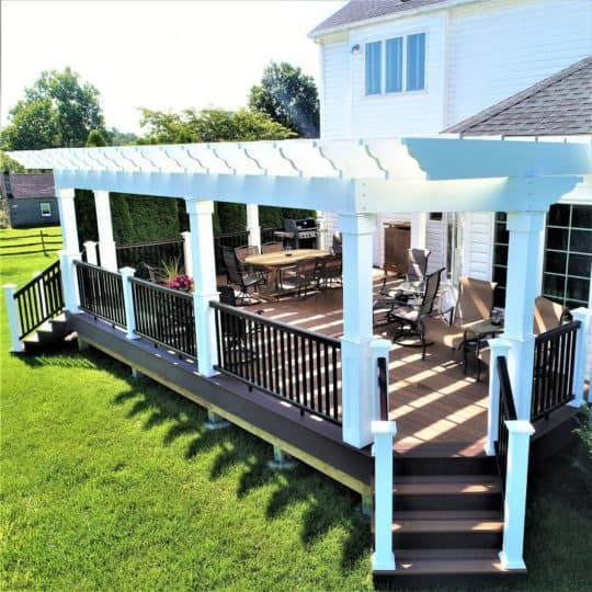 long lasting wooden awnings for patios