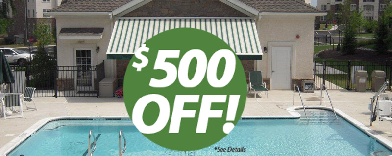 $500 off sunesta retractable awning