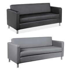 Contemporary Leather Sofa Bed Tempurpedic New Available In 2 Colors Modern Sofas Black Or Gray
