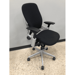 Steelcase Leap Chair Bar Height Patio Set With Swivel Chairs Pre Owned Black Leather Office In Dfw Version 2 Silver Frame On Fabric Sec