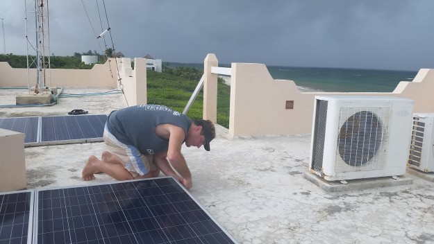 preparing solar panels hurricane earl