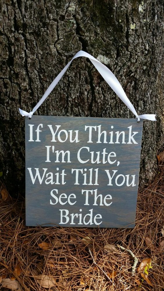 20 Cute and Clever Wedding Signs  AWOL Granada  A