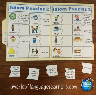 idiom file folder puzzles