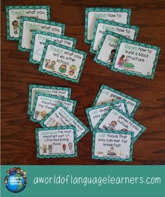 Academic vocab task cards