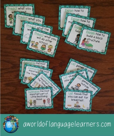 Academic vocab task cards