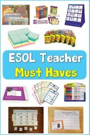 ESOL Teacher Must Haves