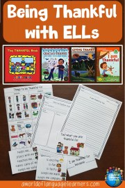 Teaching about being thankful with ells: Books and writing