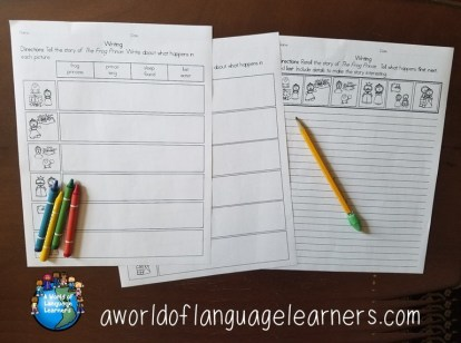 Fable graphic organizers and writing page