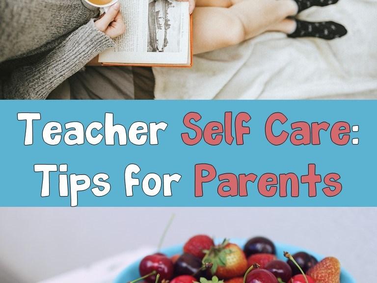 teacher self care- book and fruit