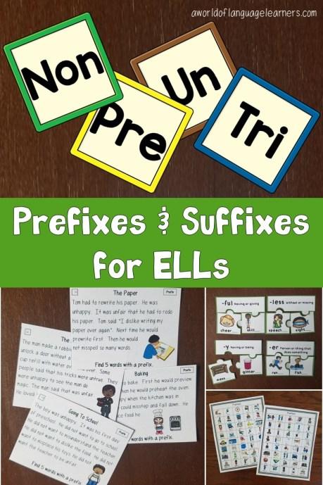 Prefixes and Suffixes for ELLs