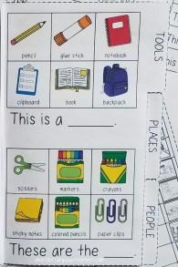 School vocab mini book