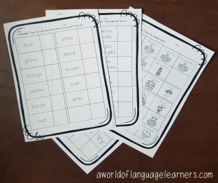 Basic vocabulary worksheets
