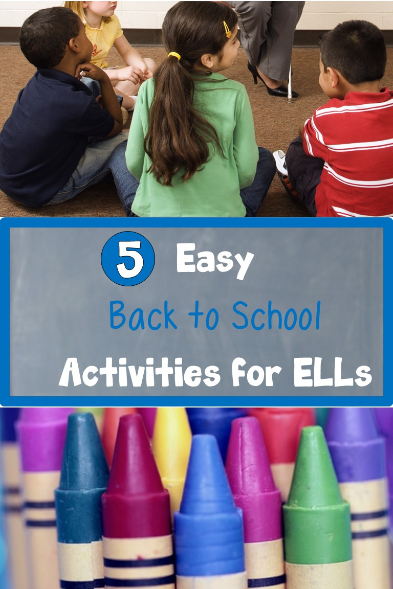 5 Easy Back to School Activities for ELLs