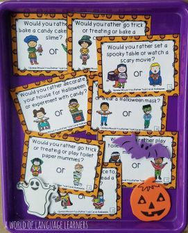 Halloween would you rather task cards