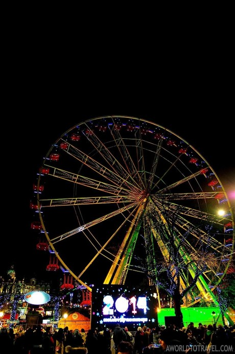 The Christmas Market and ferris-wheel were surrounded by five different stages.