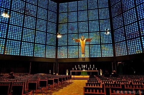 This is how Kaiser Wilhelm Memorial Church looks inside