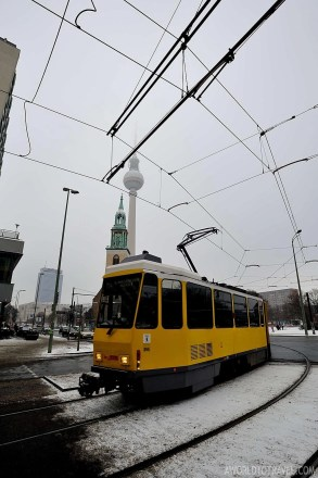 Berlin downtown with Fernsehturm in the background