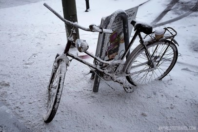 Another bike in the snow
