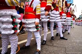 Kids dressed up as cigarrons in Verin, Ourense