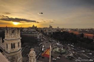 Madrid Sunset Postcards From The City Hall And Circulo De